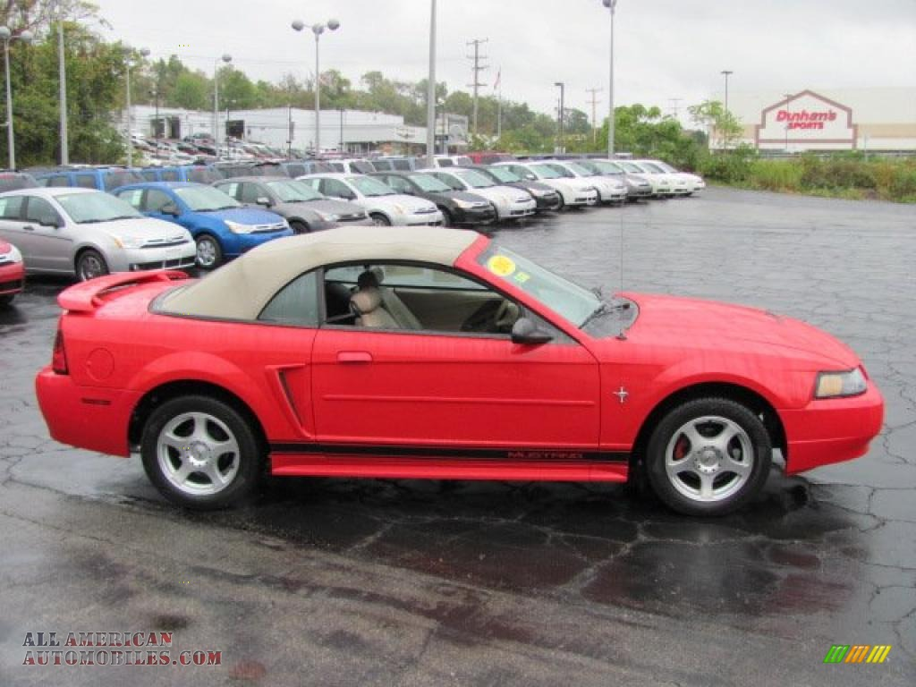 2003 Mustang V6 Convertible Torch Red Medium Parchment Photo 5