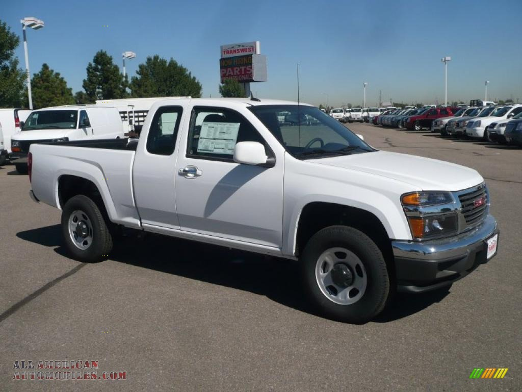 2011 Gmc Canyon Extended Cab 4x4 In Summit White 103500