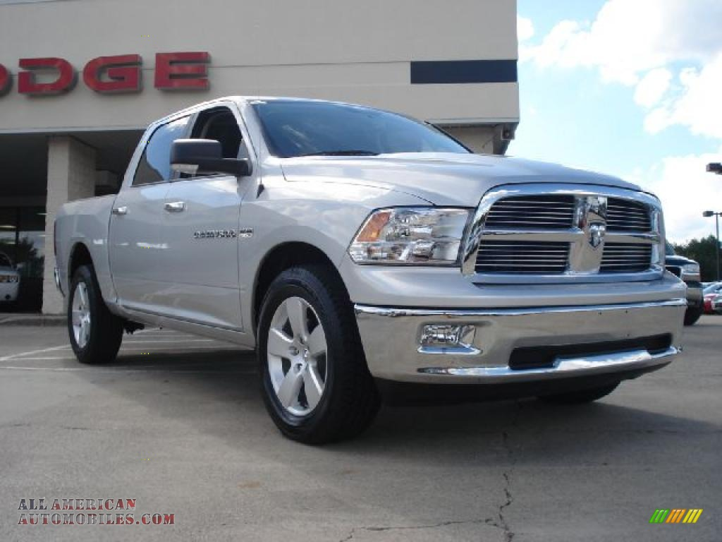 2011 dodge ram 1500 big horn crew cab 4x4 in bright silver metallic 542716 all american. Black Bedroom Furniture Sets. Home Design Ideas