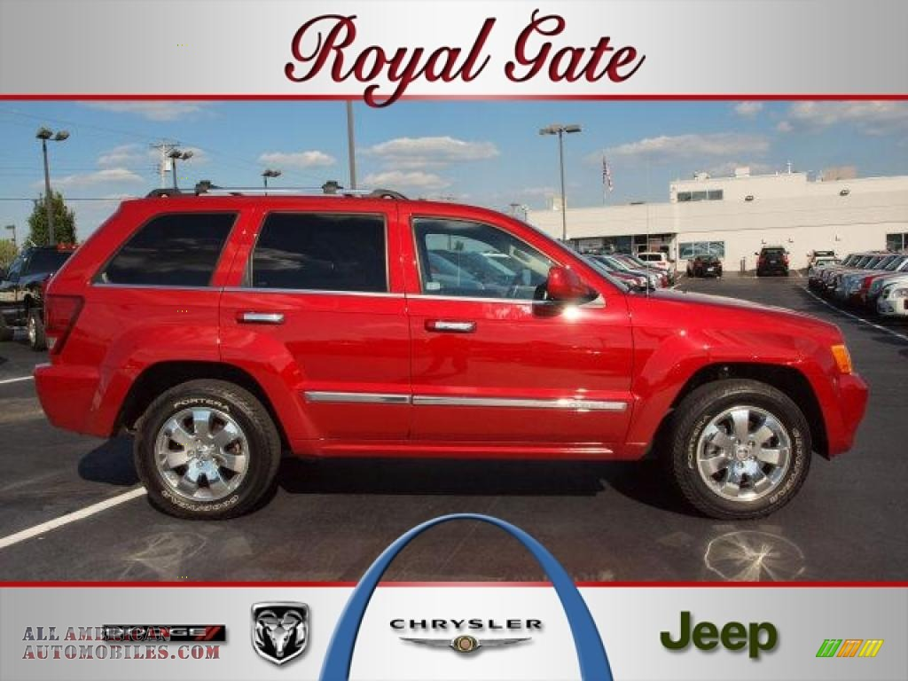 2009 jeep grand cherokee overland 4x4 in blaze red crystal for Royal chrysler motors inc