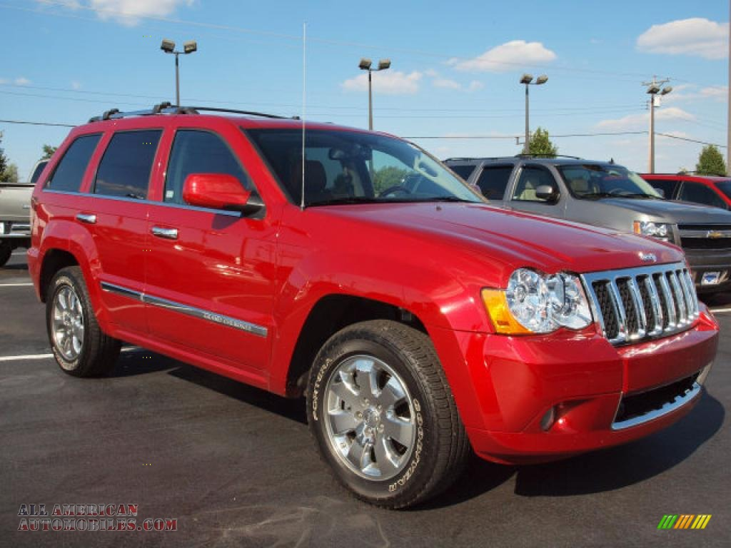 2009 jeep grand cherokee overland 4x4 in blaze red crystal pearl photo 2 543188 all. Black Bedroom Furniture Sets. Home Design Ideas