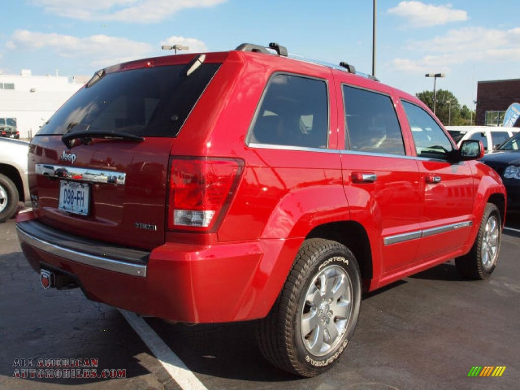 2009 Jeep Grand Cherokee Overland 4x4 In Blaze Red Crystal