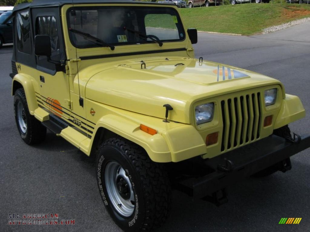 1990 Jeep Wrangler Islander 4x4 in Malibu Yellow photo #4 ...
