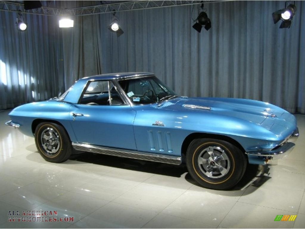 1966 chevrolet corvette stingray in nassau blue photo 3 119112 all american automobiles. Black Bedroom Furniture Sets. Home Design Ideas
