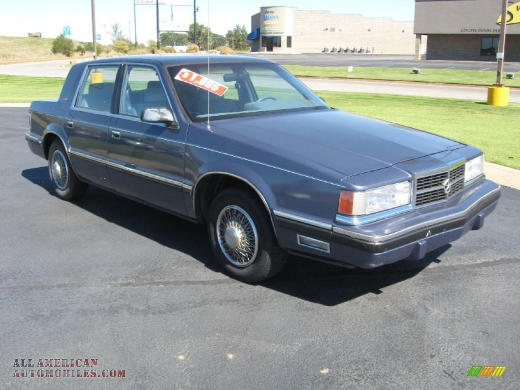 1988 Dodge Dynasty Le In Blue Photo 3 132871 All