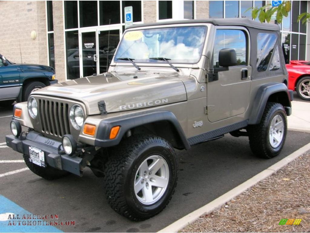 2006 jeep wrangler rubicon 4x4 in light khaki metallic. Black Bedroom Furniture Sets. Home Design Ideas