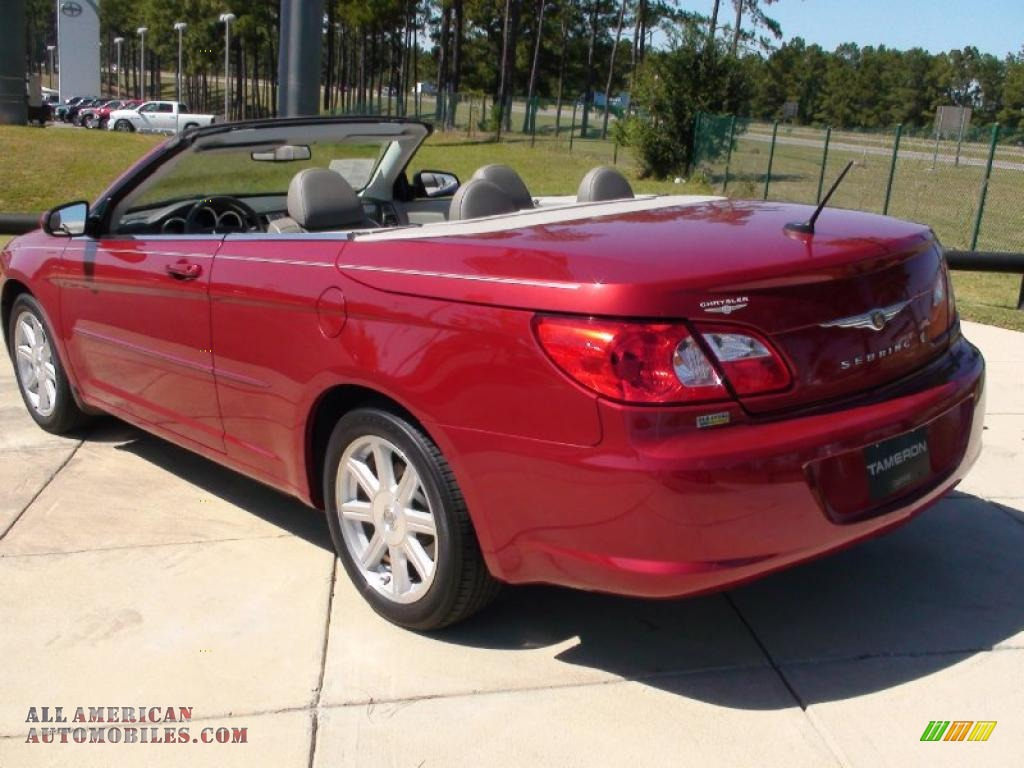 2008 chrysler sebring touring hardtop convertible in inferno red crystal pearl photo 8 103061. Black Bedroom Furniture Sets. Home Design Ideas