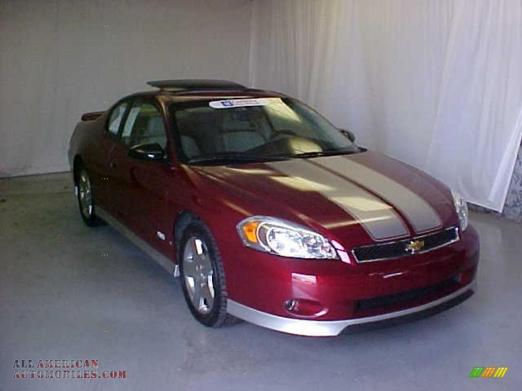 2007 chevrolet monte carlo ss in red jewel tint coat 374114 all american automobiles buy. Black Bedroom Furniture Sets. Home Design Ideas