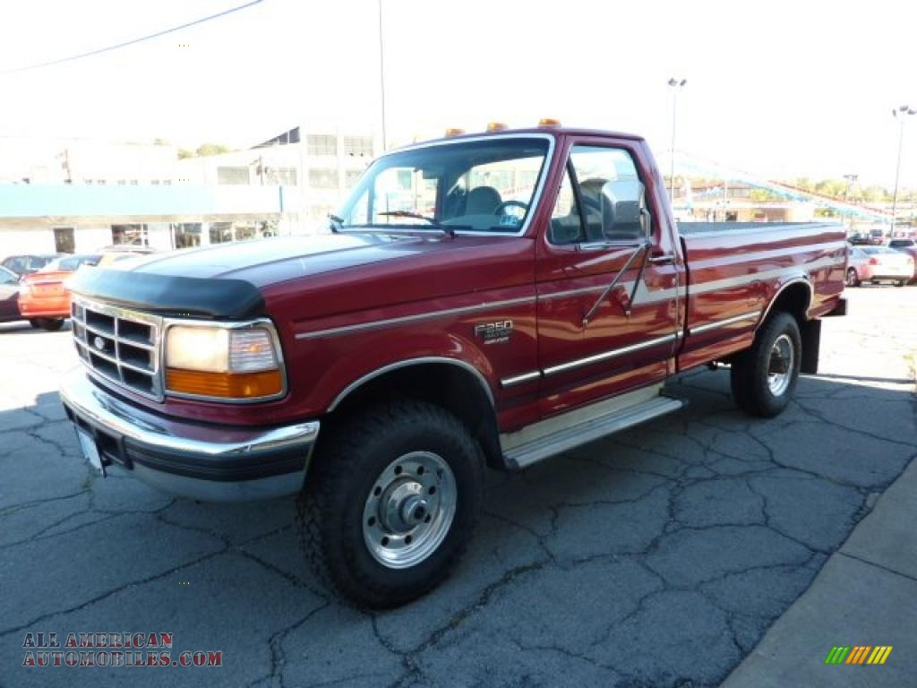 1997 Ford F250 Xlt Regular Cab 4x4 In Toreador Red Metallic Photo 5 A62282 All American Automobiles Buy American Cars For Sale In America