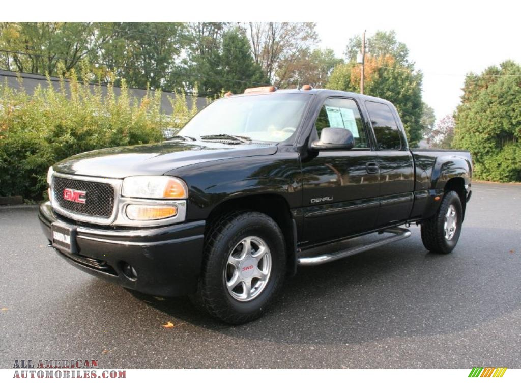 2002 gmc sierra 1500 denali extended cab 4wd in onyx black. Black Bedroom Furniture Sets. Home Design Ideas
