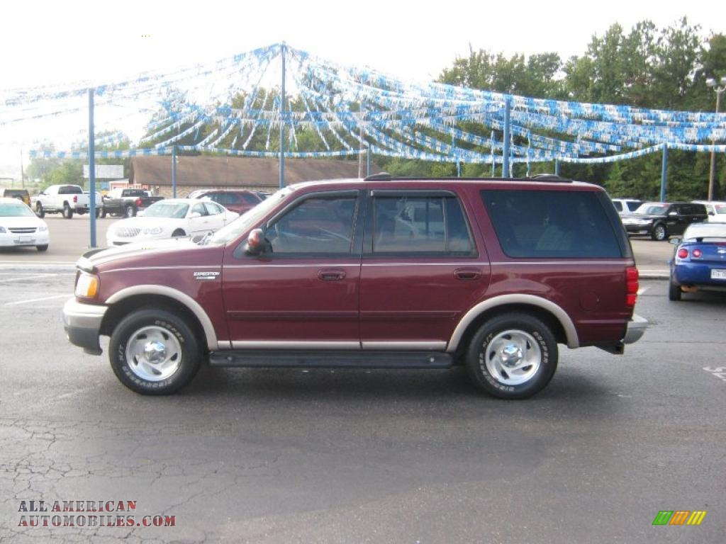 1999 ford expedition eddie bauer 4x4 in dark toreador red metallic photo 2 a16799 all. Black Bedroom Furniture Sets. Home Design Ideas