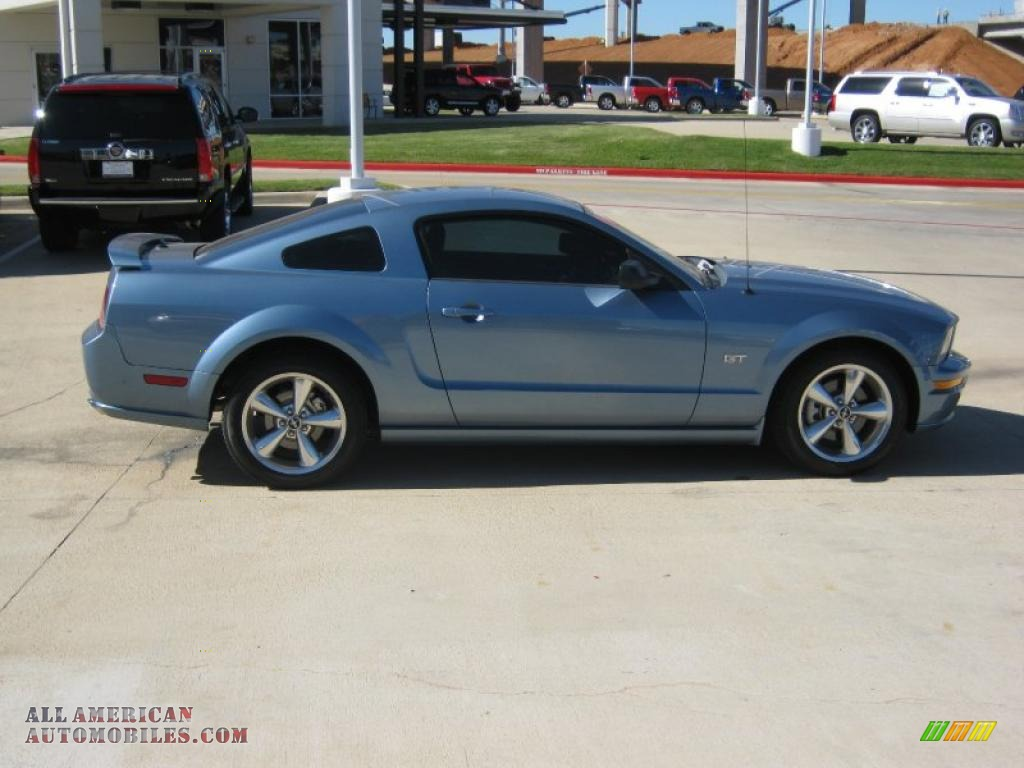 2008 ford mustang gt deluxe coupe in windveil blue metallic photo 6 119686 all american. Black Bedroom Furniture Sets. Home Design Ideas