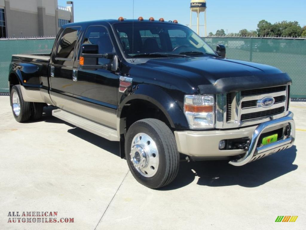 2008 ford f450 super duty king ranch crew cab 4x4 dually in black a94994 all american