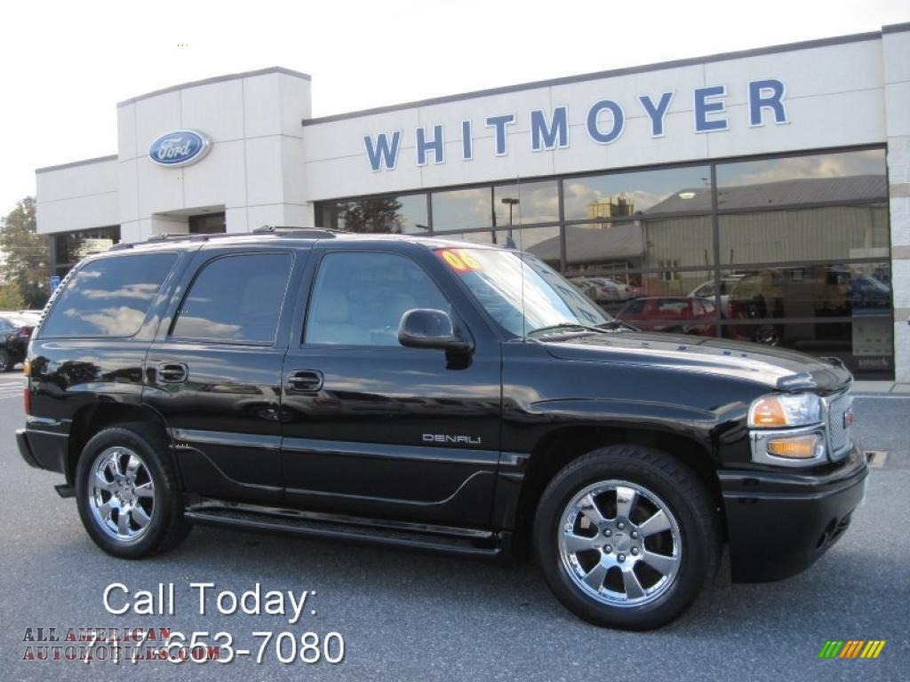 2006 gmc yukon denali awd in onyx black 109097 all american automobiles buy american cars. Black Bedroom Furniture Sets. Home Design Ideas