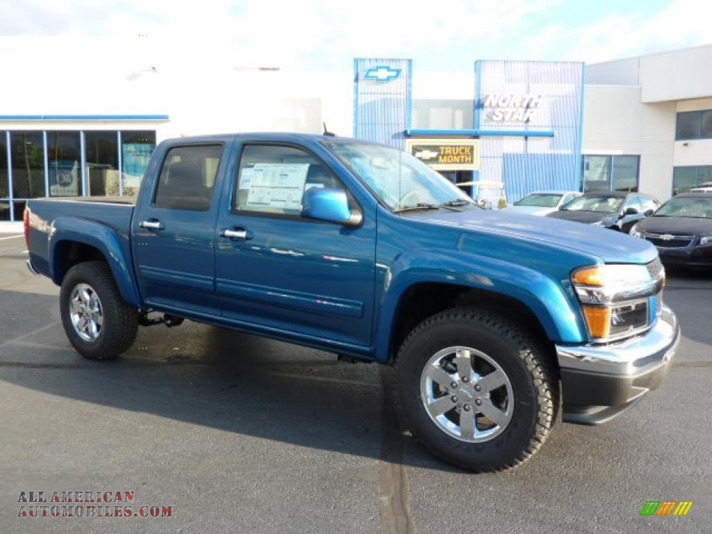 2011 chevrolet colorado lt crew cab 4x4 in aqua blue metallic 106241 all american. Black Bedroom Furniture Sets. Home Design Ideas