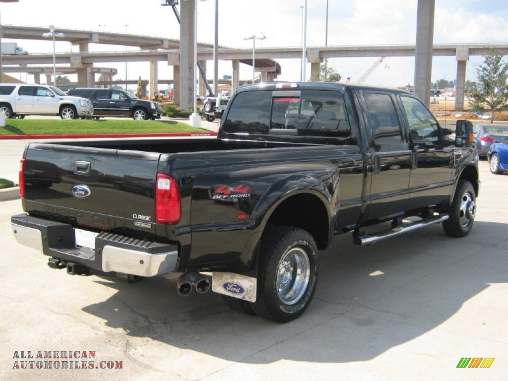 2008 ford f350 super duty lariat crew cab 4x4 dually in black photo 5 b55258 all american. Black Bedroom Furniture Sets. Home Design Ideas