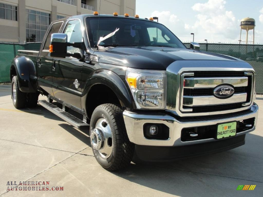 2011 ford f350 super duty lariat crew cab 4x4 dually in tuxedo black a67644 all american. Black Bedroom Furniture Sets. Home Design Ideas