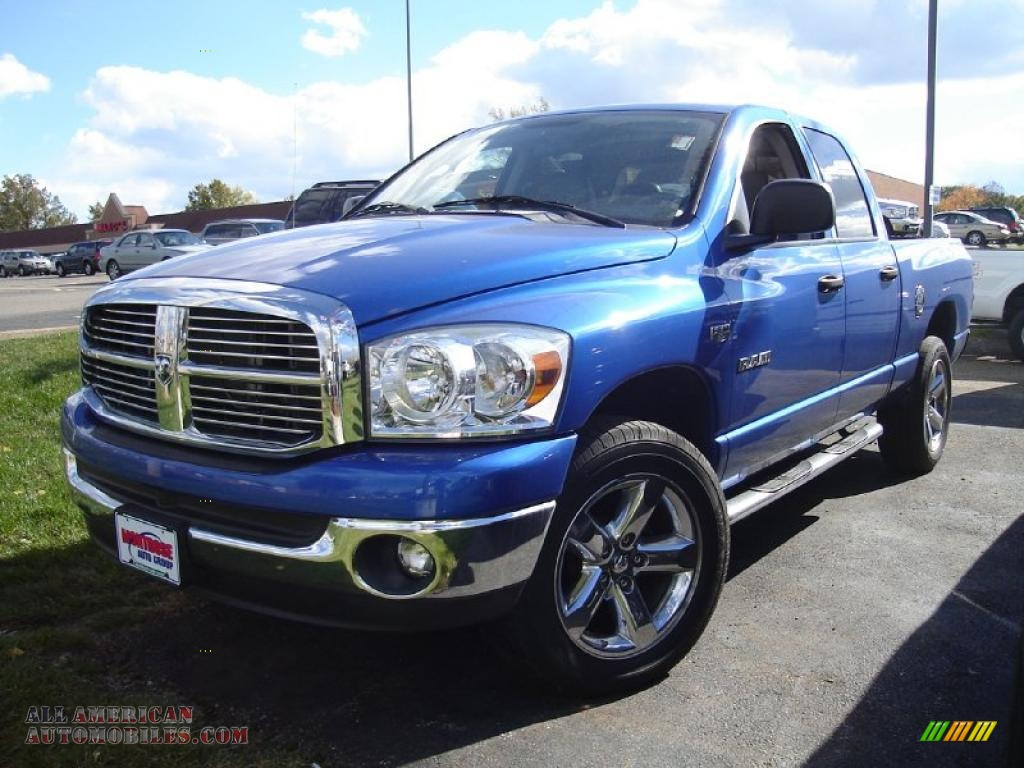 2008 dodge ram 1500 big horn edition quad cab 4x4 in electric blue pearl 500417 all american. Black Bedroom Furniture Sets. Home Design Ideas