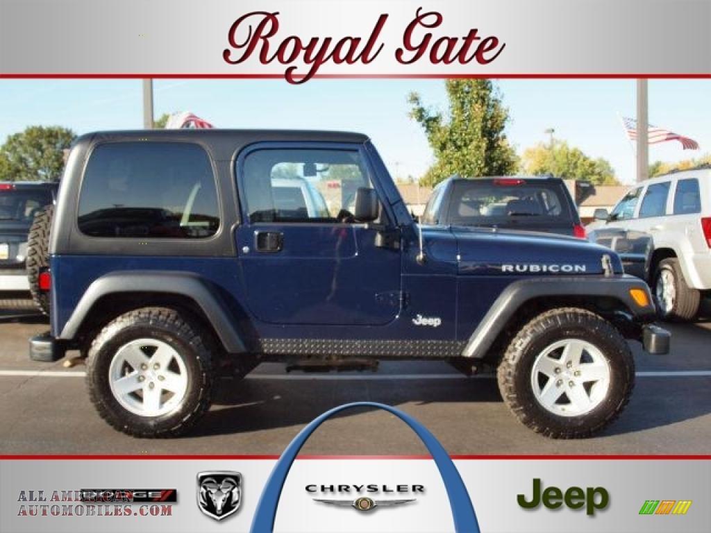 2006 Jeep Wrangler Rubicon 4x4 In Midnight Blue Pearl