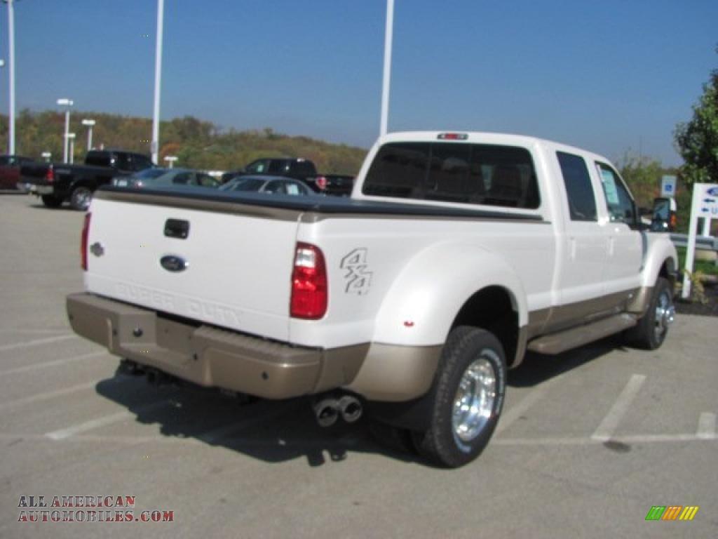 2011 F450 Super Duty King Ranch Crew Cab 4x4 Dually - White Platinum