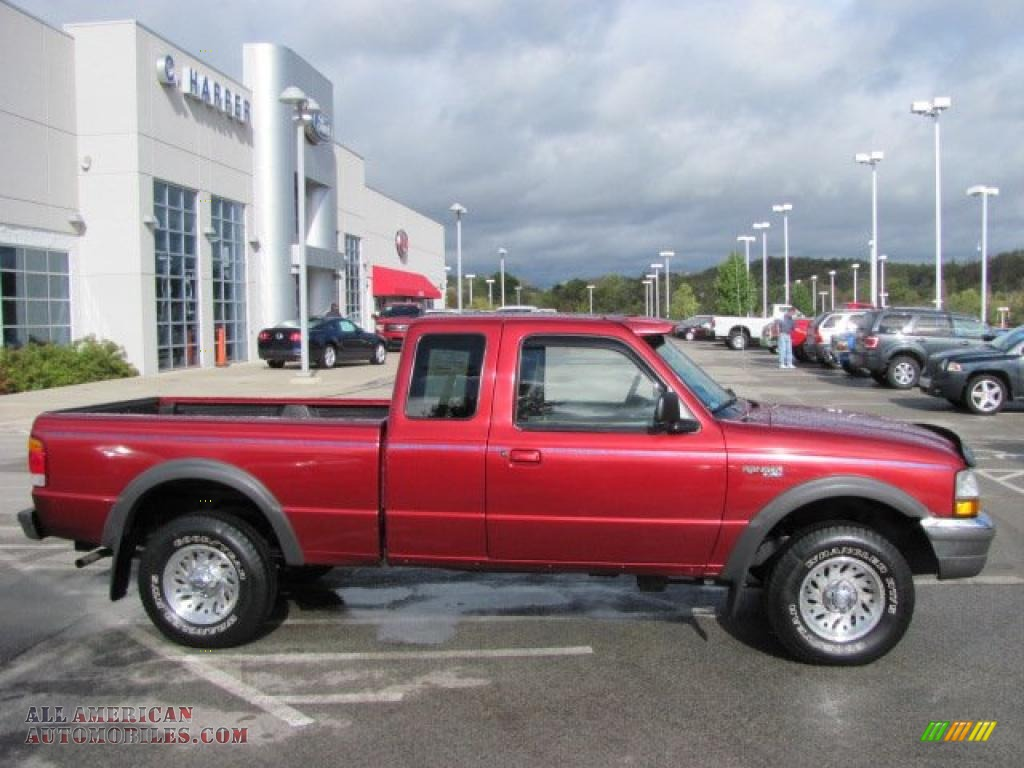 1998 ford ranger xlt extended cab 4x4 in toreador red for 1998 ford f150 motor for sale