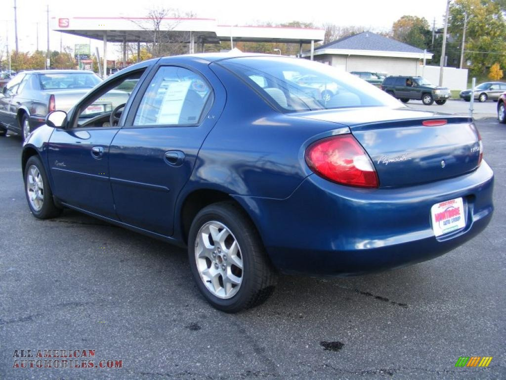 Montrose Auto Group >> 2001 Plymouth Neon Highline LX in Patriot Blue Metallic photo #3 - 102828 | All American ...