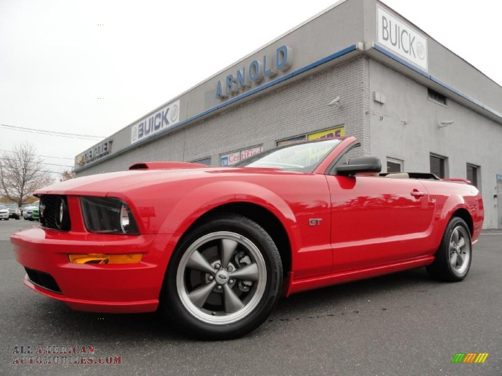 2007 Ford Mustang GT Premium Convertible in Torch Red - 349542   All ...