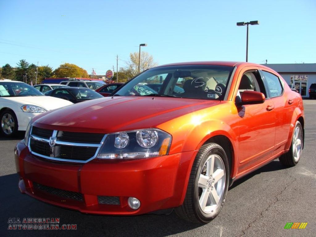 2008 Dodge Avenger R T In Sunburst Orange Pearl Photo 17