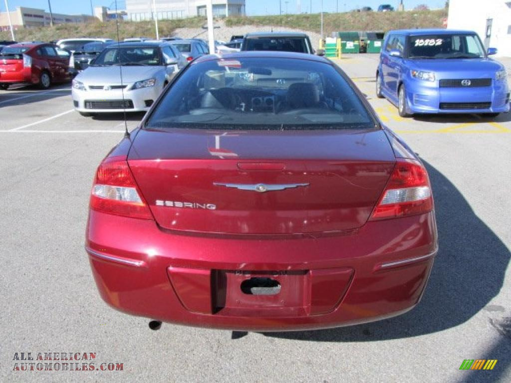 2004 Chrysler Sebring Coupe in Deep Red Pearl photo #5 - 084059 | All ...