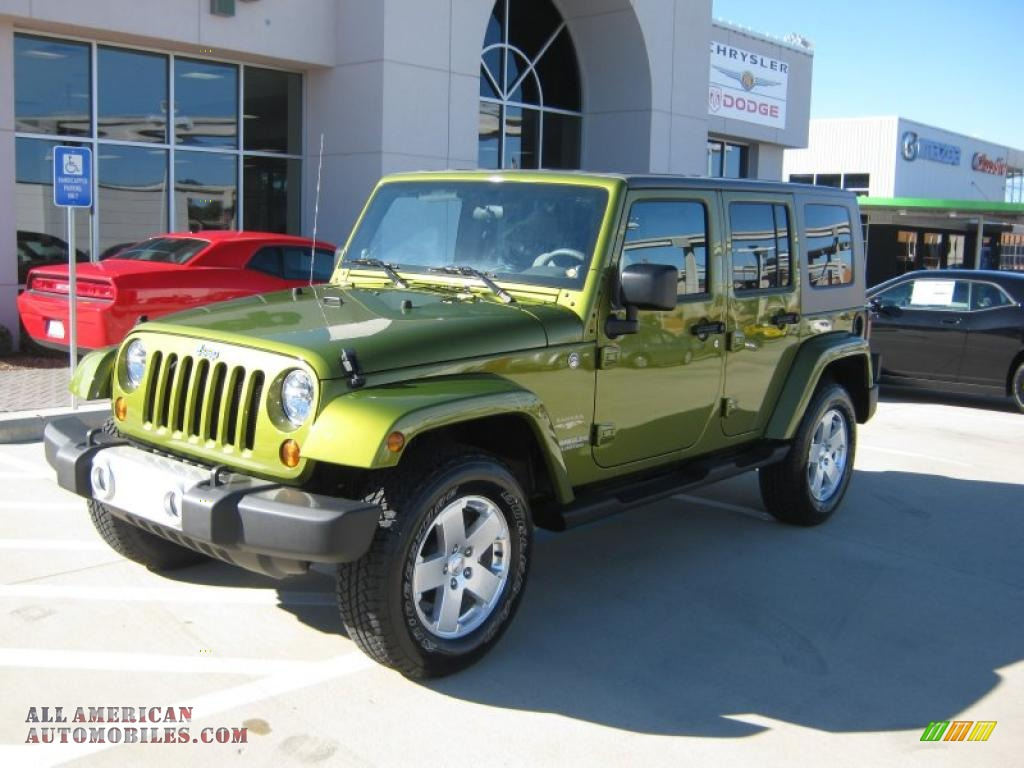 2010 jeep wrangler unlimited sahara 4x4 in natural green for Steve white motors inc