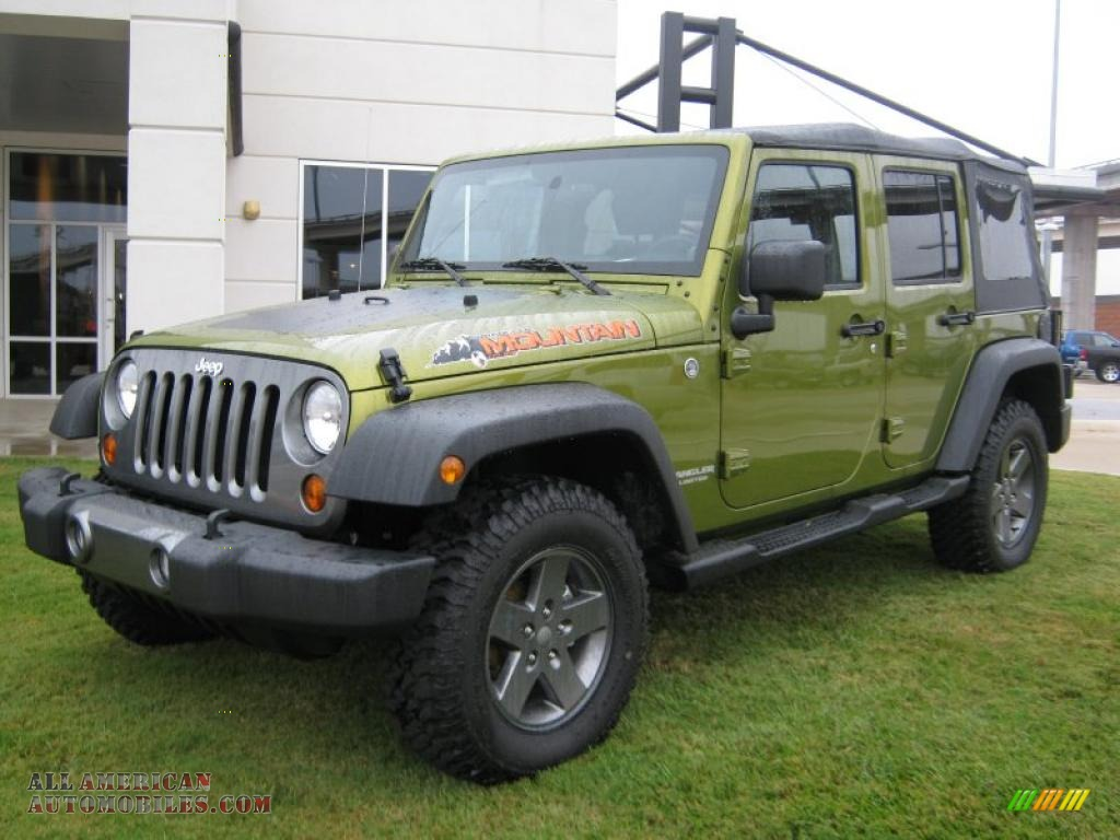 2010 Wrangler Unlimited Mountain Edition 4x4 - Rescue Green Metallic / Dark Slate Gray/Medium Slate Gray photo #1