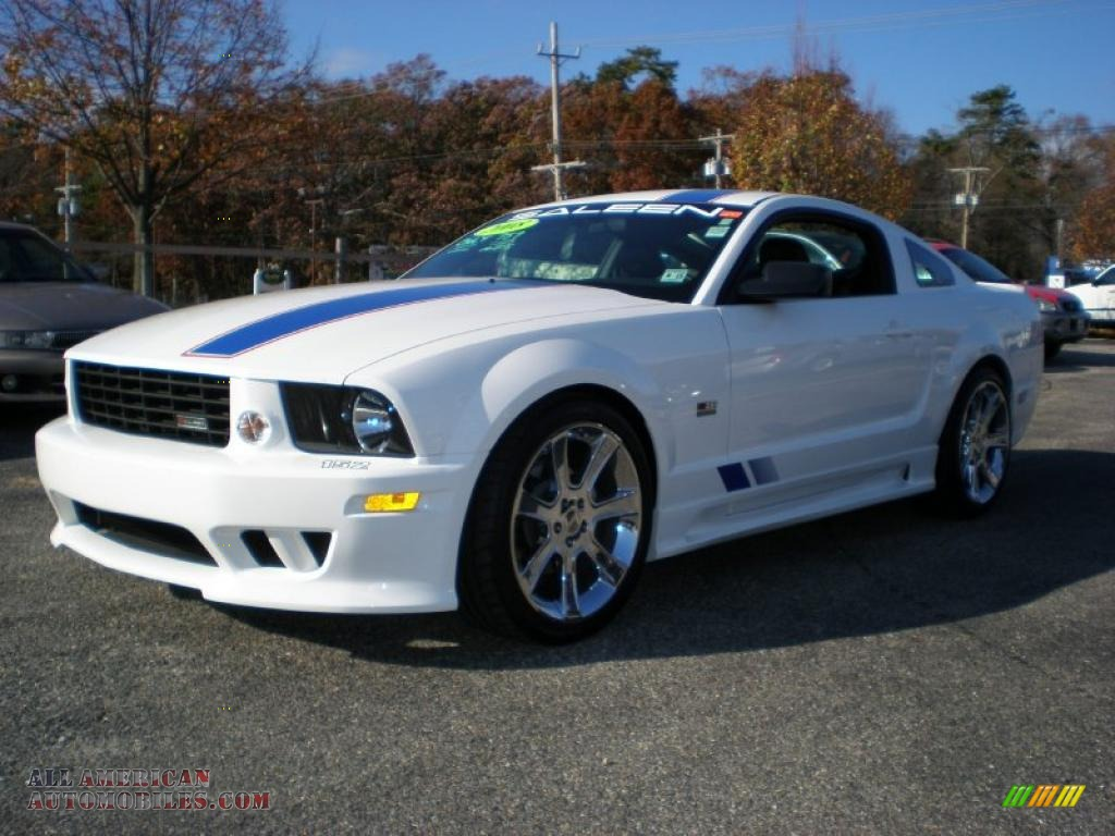 2008 ford mustang saleen s281 af american flag patriot supercharged coupe in performance white. Black Bedroom Furniture Sets. Home Design Ideas