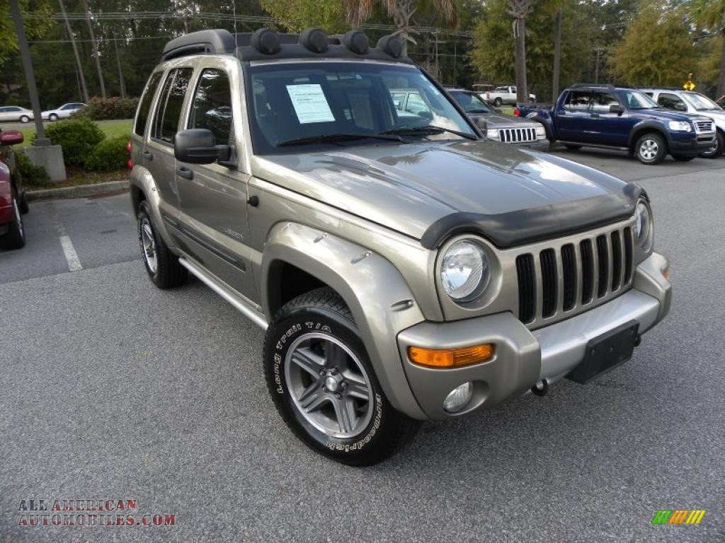 2004 jeep liberty renegade 4x4 in light khaki metallic 146419 all american automobiles buy. Black Bedroom Furniture Sets. Home Design Ideas