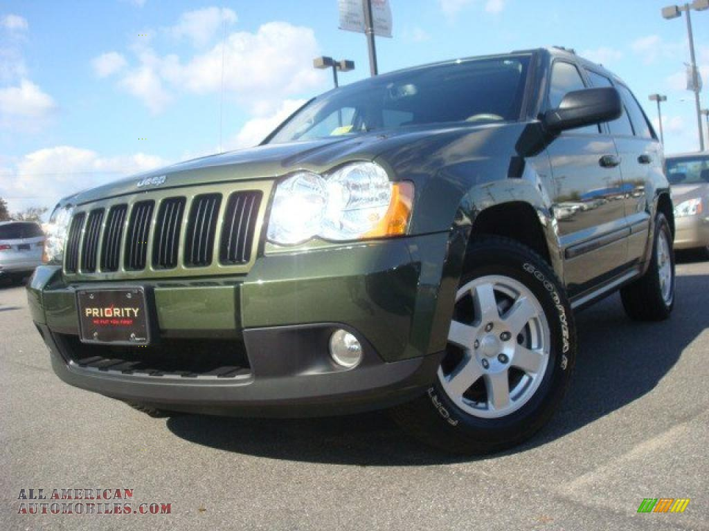 2009 jeep grand cherokee laredo 4x4 in jeep green metallic 522919 all american automobiles. Black Bedroom Furniture Sets. Home Design Ideas