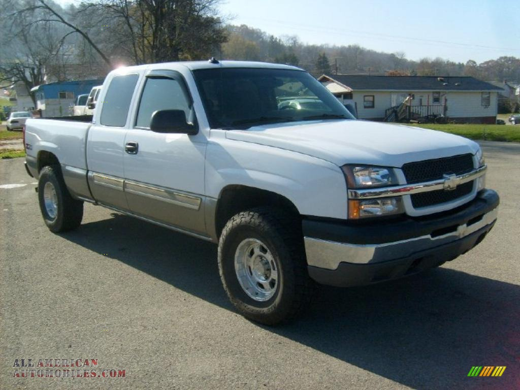 Ron Lewis Chrysler Dodge Jeep Ram Waynesburg >> 2003 Chevrolet Silverado 1500 Z71 Extended Cab 4x4 in Summit White photo #7 - 220406 | All ...