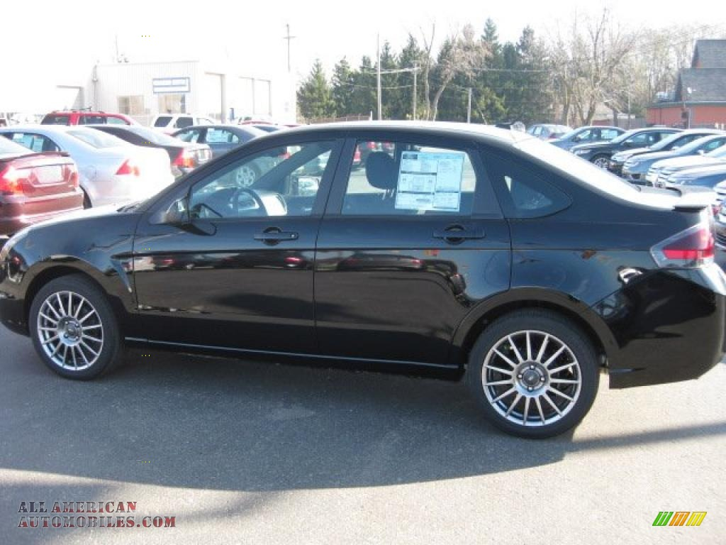 2011 ford focus ses sedan in ebony black 178527 all american automobiles buy american cars. Black Bedroom Furniture Sets. Home Design Ideas