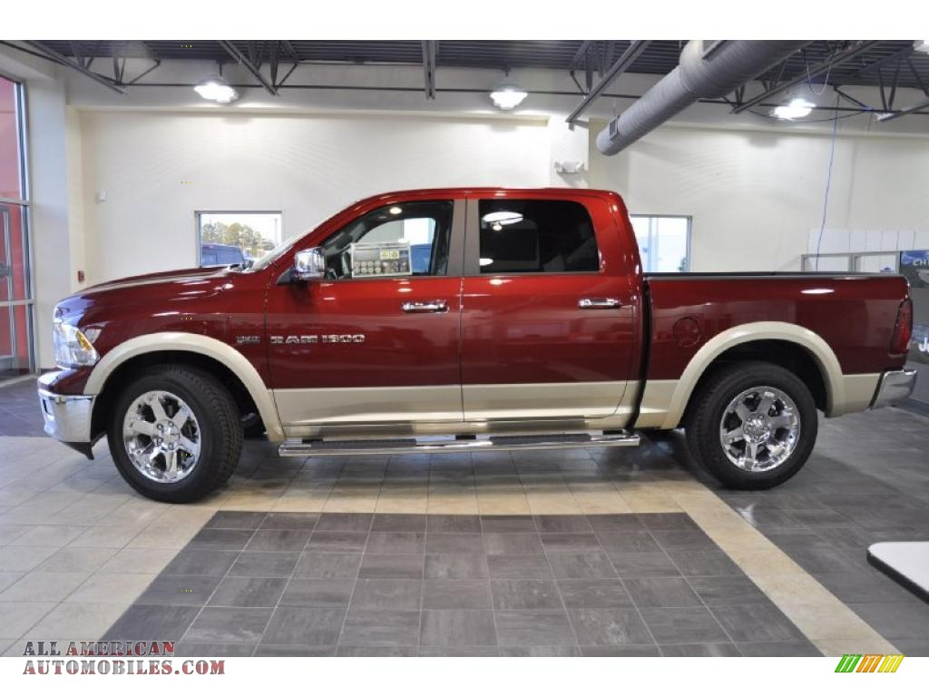 2011 dodge ram 1500 laramie crew cab in deep cherry red crystal pearl 543356 all american. Black Bedroom Furniture Sets. Home Design Ideas