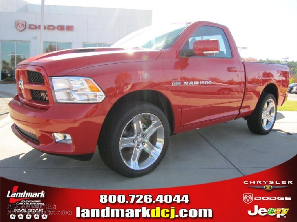 2011 dodge ram 1500 sport r t regular cab in flame red 532714 all american automobiles buy. Black Bedroom Furniture Sets. Home Design Ideas