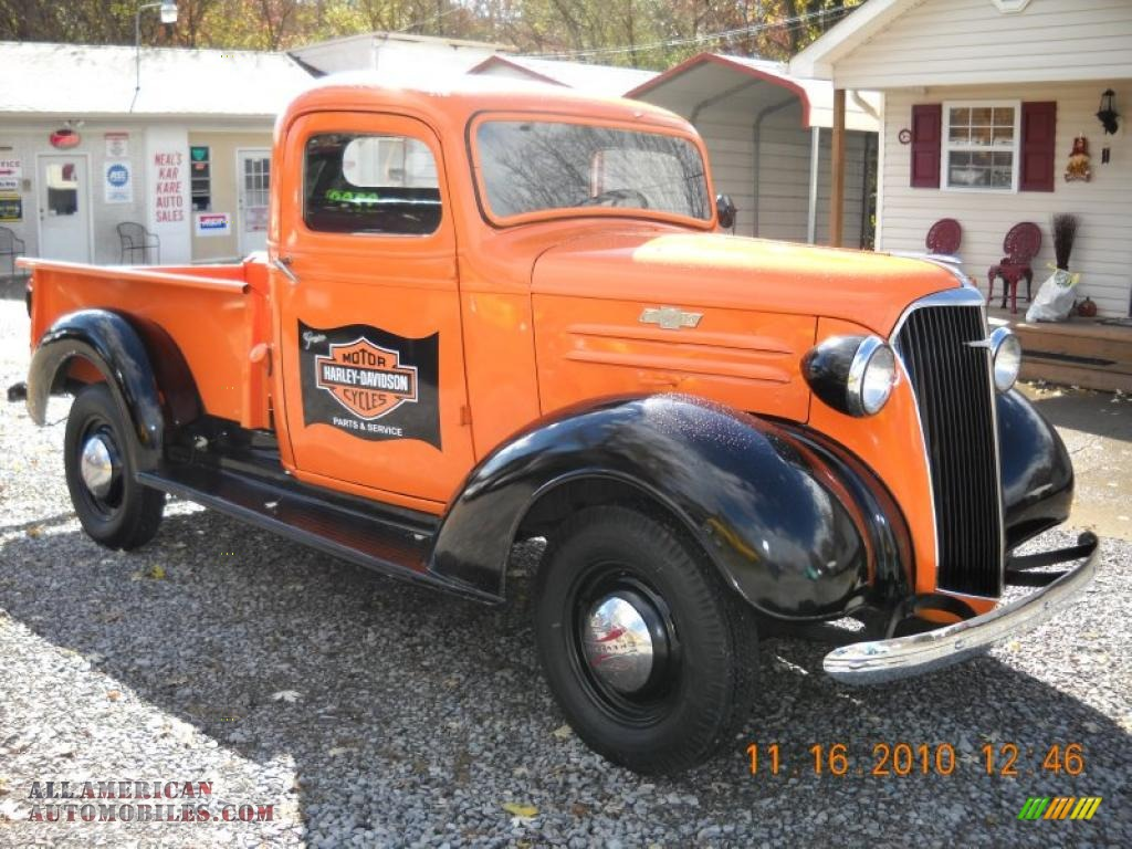 Orange / Black Chevrolet
