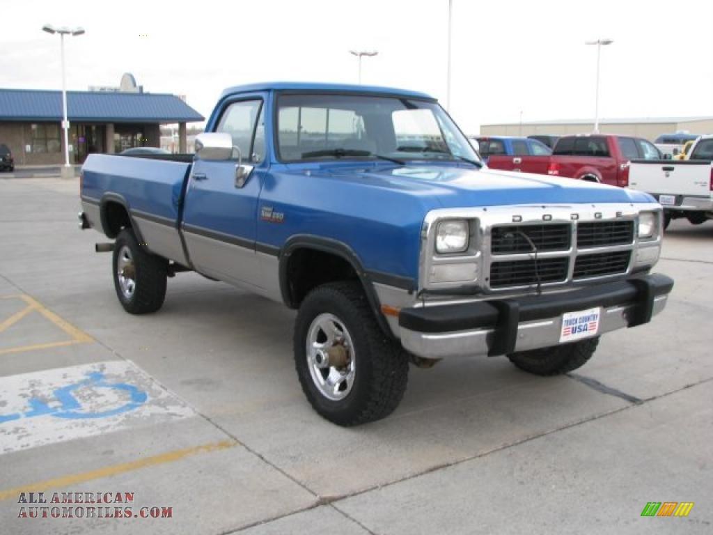 on 1992 Dodge Dakota Interior