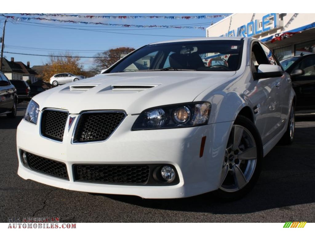 2008 pontiac g8 gt in white hot 127459 all american automobiles. Black Bedroom Furniture Sets. Home Design Ideas