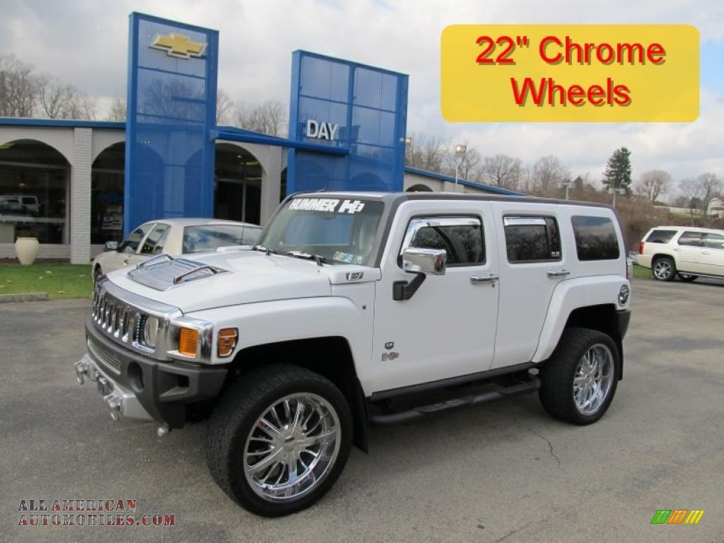 2006 hummer h3 in birch white 313550 all american automobiles birch white ebony black hummer h3 vanachro Image collections