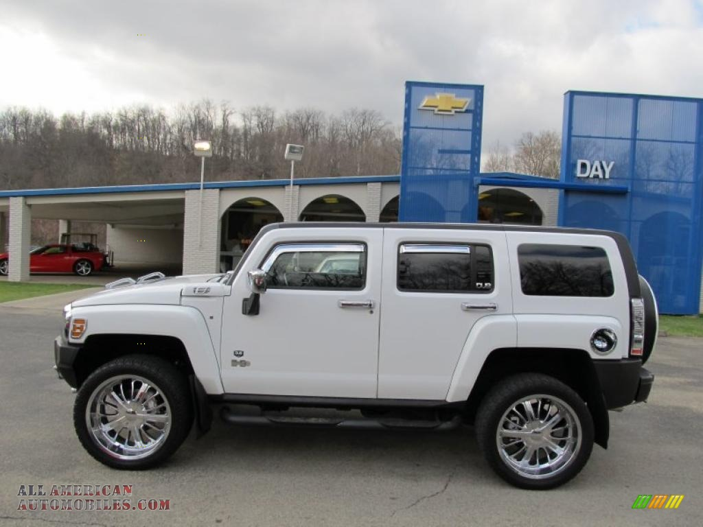 2006 hummer h3 in birch white photo 2 313550 all american automobiles buy american cars. Black Bedroom Furniture Sets. Home Design Ideas