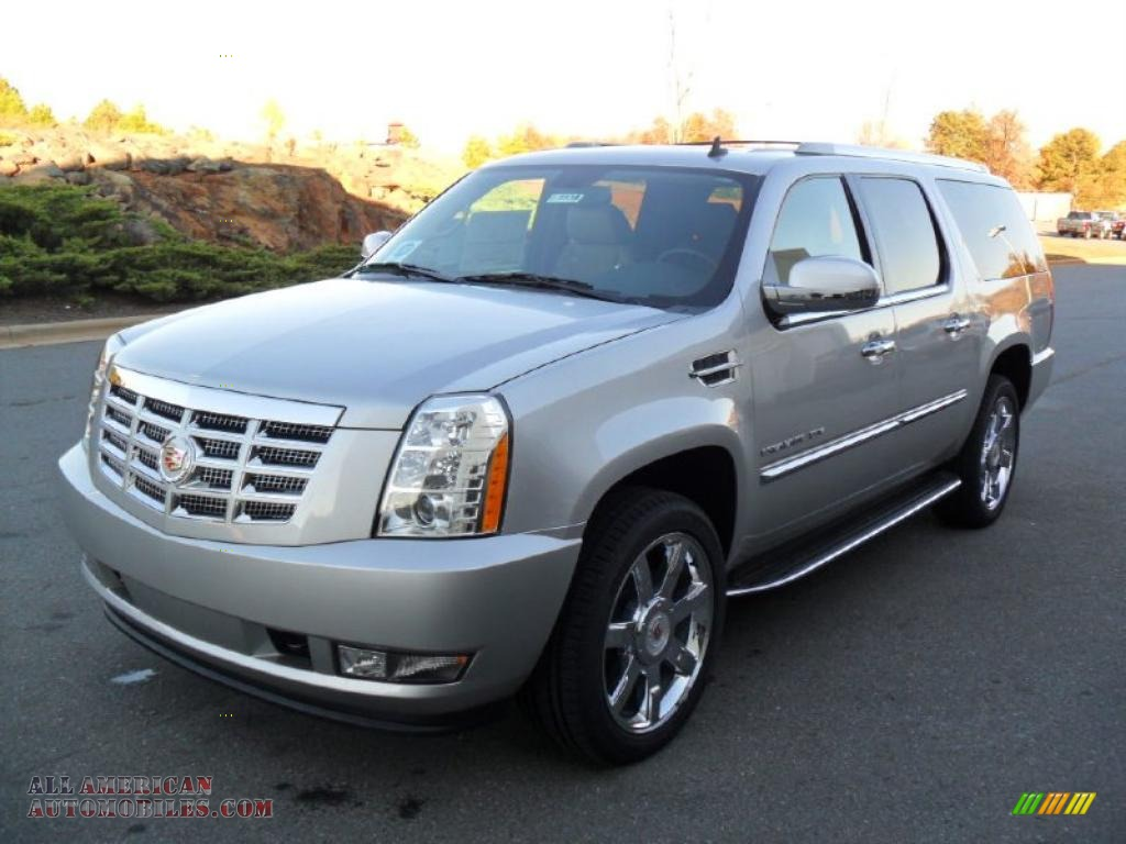 2011 cadillac escalade esv luxury awd in silver lining metallic 193725 all american. Black Bedroom Furniture Sets. Home Design Ideas
