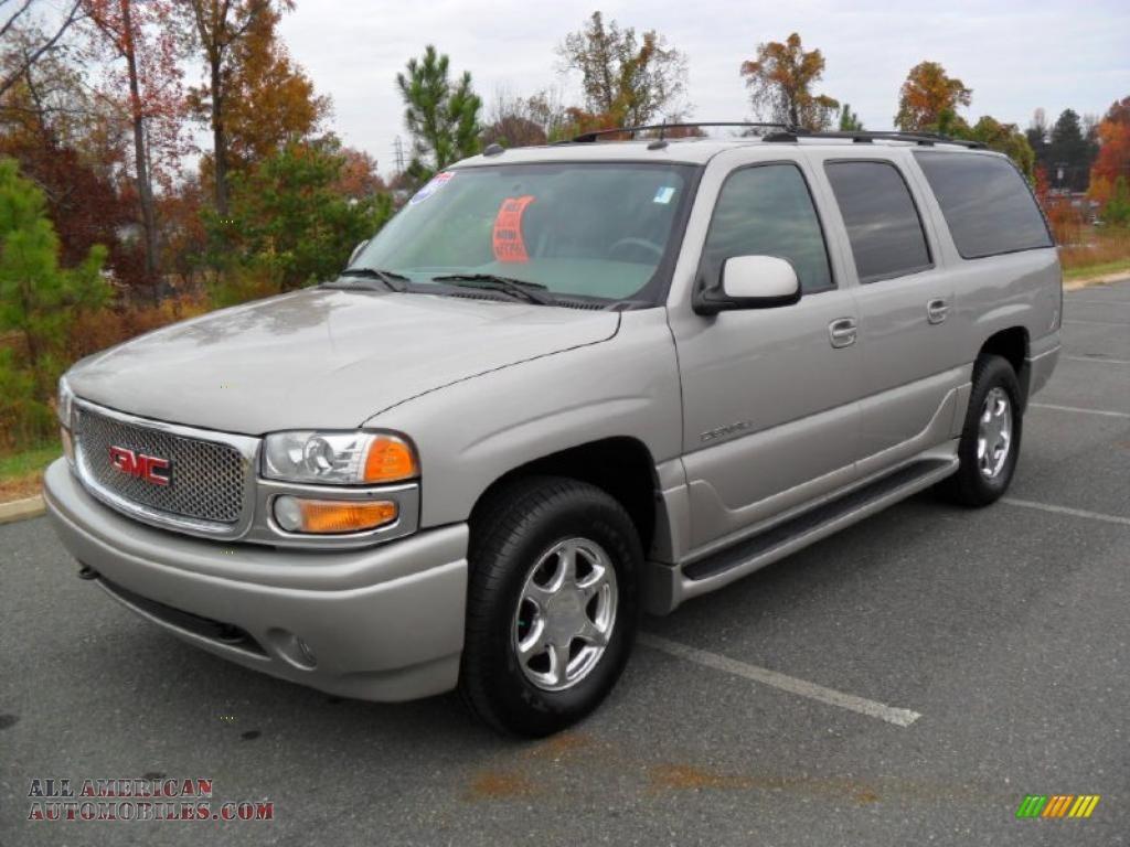 2004 gmc yukon xl denali awd in silver birch metallic 241511 all american automobiles buy. Black Bedroom Furniture Sets. Home Design Ideas