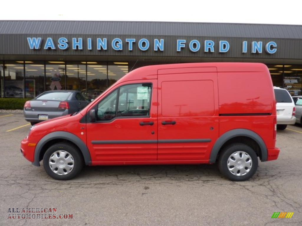 2010 Ford Transit Connect Xlt Cargo Van In Torch Red
