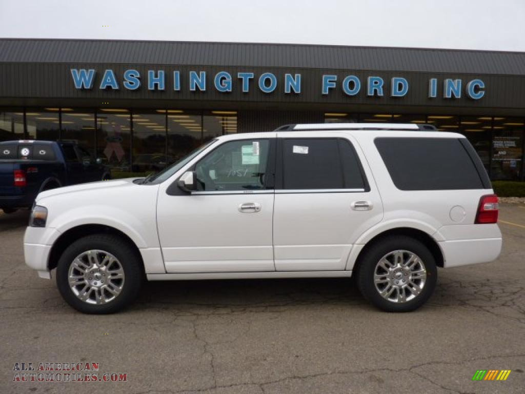 2011 ford expedition limited 4x4 in white platinum tri coat f13047 all american automobiles. Black Bedroom Furniture Sets. Home Design Ideas