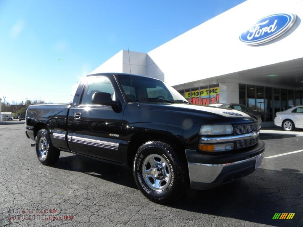 1999 chevrolet silverado 1500 ls regular cab in onyx black 100486. Cars Review. Best American Auto & Cars Review