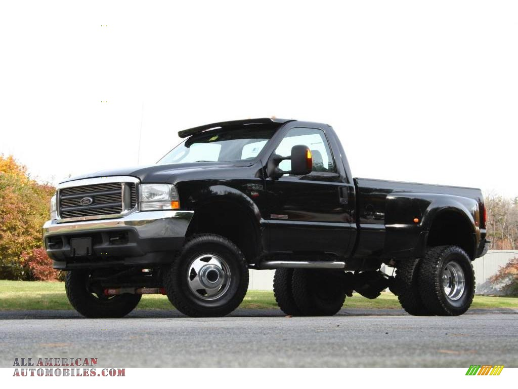 2004 ford f350 super duty xlt regular cab 4x4 dually in black photo 2 a17478 all american. Black Bedroom Furniture Sets. Home Design Ideas
