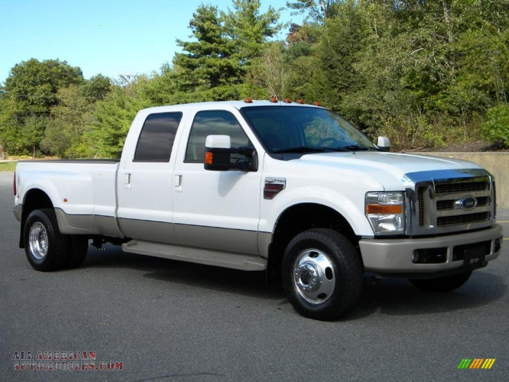 2008 Ford F350 Super Duty King Ranch Crew Cab 4x4 Dually In Oxford White A27944 All American